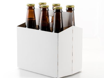 Six bottles of beer in cardboard carrier | get your prototype product packaging from ashtonne packaging today