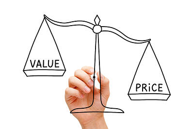 Custom designed packaging from your packaging partner, value vs price scale
