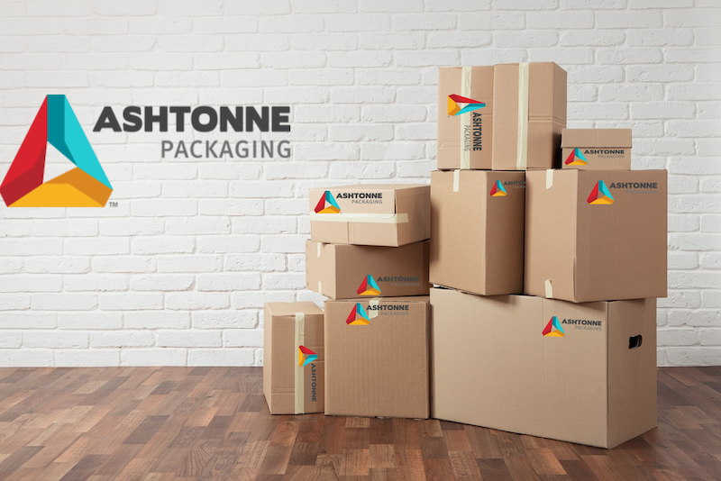 Boxes with Ashtonne logos