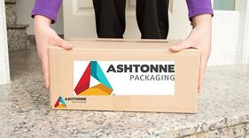 Ashtonne box at doorstep- eCommerce packaging
