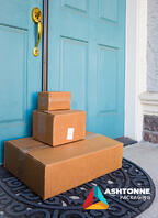 Boxes at front door