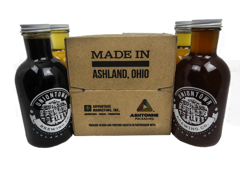 Uniontown Brewery- custom designed packaging with packaging partner